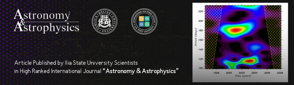 """Article  Published by Ilia State University Scientists in High Ranked International Journal """"Astronomy & Astrophysics"""""""